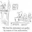 Jury gives defendant break for lacking self esteem — Stock Photo #21421825