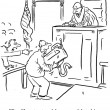 Prosecutor tries to throw sink at defendant - ストック写真