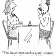 Stock Photo: You are good listener at date