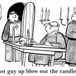 Blow candles out in monastery — Stock Photo