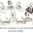 Stock Photo: Product reception has been chilly for executives