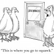 Here's where you go to squawk — Stock Photo