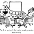The executives cannot stay awake when brainstorming — Photo