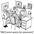 We'll never guess her password if it's a bear — Lizenzfreies Foto