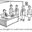 You will be absorbed by social media - Foto de Stock