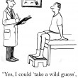 Patient wants doctor to take a guess — Foto de Stock