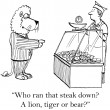 Lion is choosy about what he eats — Stock Photo