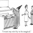 The recipe needed some magic from merlin - Stok fotoğraf