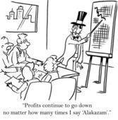 Magikern kan inte rädda företaget med magiska ord — Stockfoto