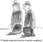 Parent companies that want to divorce — 图库照片