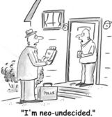 Homeowner tells pollster that he is politically undecided — Stock Photo