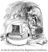 Explorer est dans la grotte pour trouver le livre de règlement — Photo