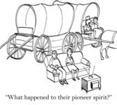 They have lost the old pioneer spirit — Stock Photo