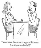 You are a good listener at date — Stock Photo
