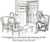 Professeur enseigne uniquement en fonction de l'essai — Photo