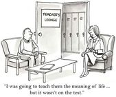 Professor só ensina de acordo com o teste — Foto Stock