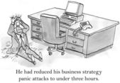 CEO has panic attacks about business strategy — Stock fotografie