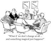 Führungskräfte bevorzugen, nicht zu ändern — Stockfoto