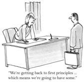 Vamos encontrar alguns dos nossos princípios — Foto Stock