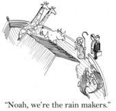 The business deal makers meet Noah — Stock Photo