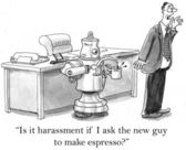 Robot That Makes Coffee can not be asked about espresso — Стоковое фото