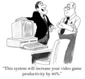 Video game productivity will go up — Stock Photo