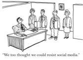 ソーシャル メディアによって吸収されます。 — ストック写真