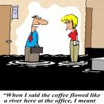 When I said the coffee flowed like a river — Stock Photo #21951413