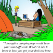 Royalty-Free Stock Photo: Camping trip will relieve stress