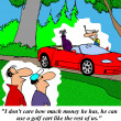 Rich man can use golf cart -  
