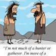 Caveman is not a hunter or gatherer - 图库照片