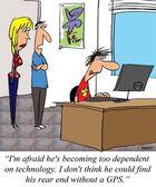 Dependent on technology — Stock Photo