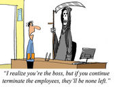 Boss is terminating too many employees, none are left. — Stock Photo