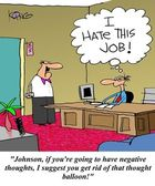 I hate this job thoughts — Stok fotoğraf
