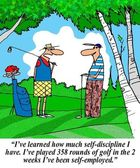 Golfer has learned self discipline — Foto Stock