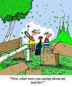 Golfer has bad lie — Stock Photo