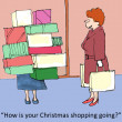 Stock Photo: Christmas shopping
