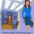 Meeting magic — Stock Photo