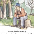 He thought about woodsy stuff — Stock Photo
