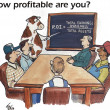 图库照片: How profitable are you