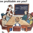 How profitable are you — Stock Photo