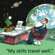 Stock Photo: Skills travel