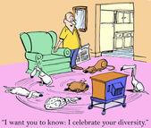 Chcę żebyś wiedział, że świętować swoje różnorodności — Zdjęcie stockowe