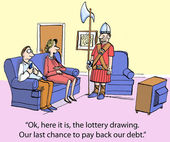 Lottery debt — Stock Photo