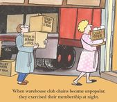 Warehouse club chains — Stock Photo