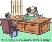 Whimsical career — Stock Photo