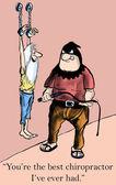Chiropractor torture — Stock Photo