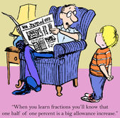 Aprender las fracciones — Foto de Stock