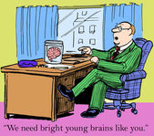 Bright young brains — Stock Photo