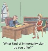 Immortality plan — 图库照片
